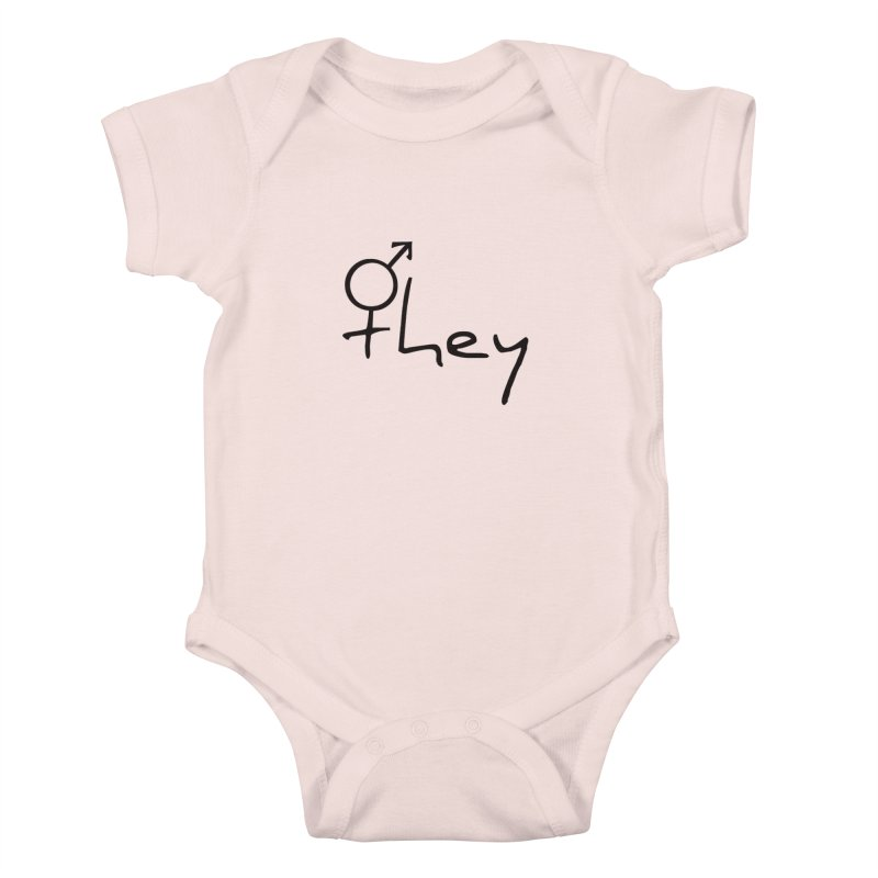 they Kids Baby Bodysuit by Tilted Windmill's Artist Shop