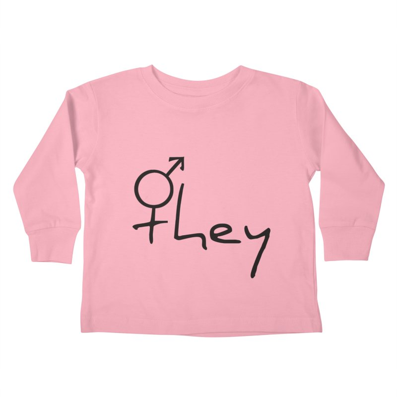 they Kids Toddler Longsleeve T-Shirt by Tilted Windmill's Artist Shop