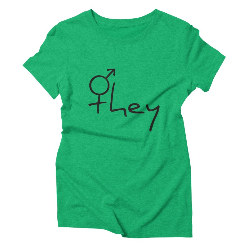they Women's Triblend T-shirt by Tilted Windmill's Artist Shop