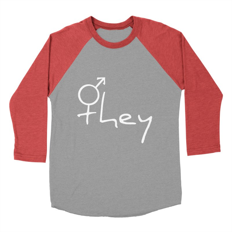 they Men's Baseball Triblend T-Shirt by Tilted Windmill's Artist Shop