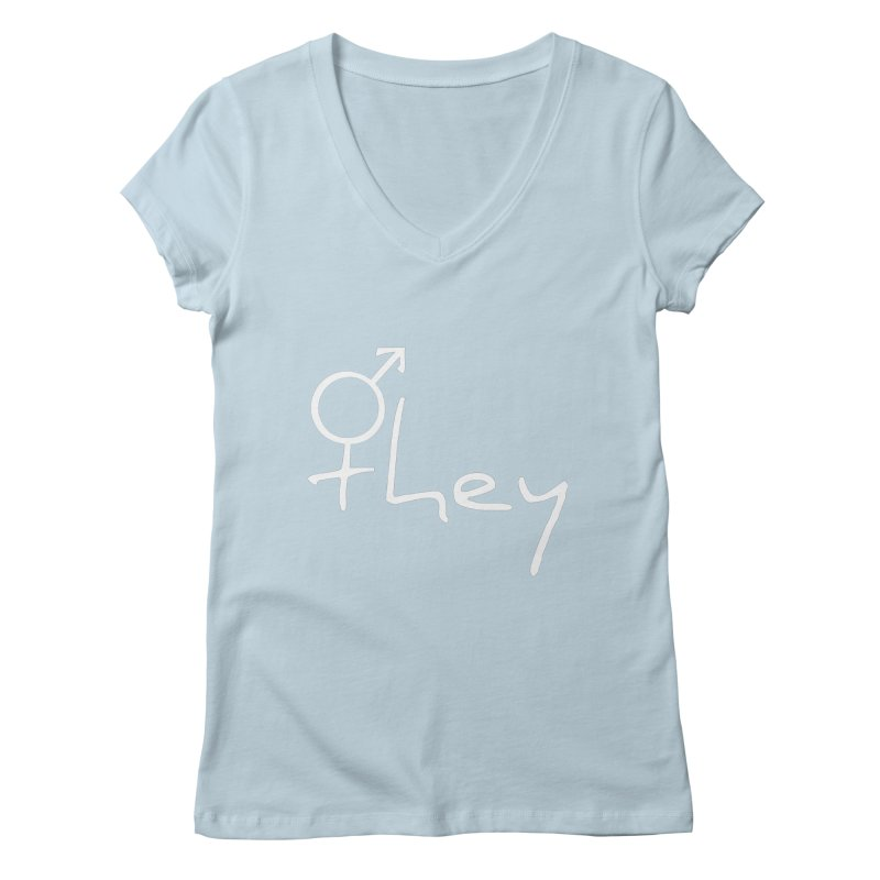 they Women's Regular V-Neck by Tilted Windmill's Artist Shop