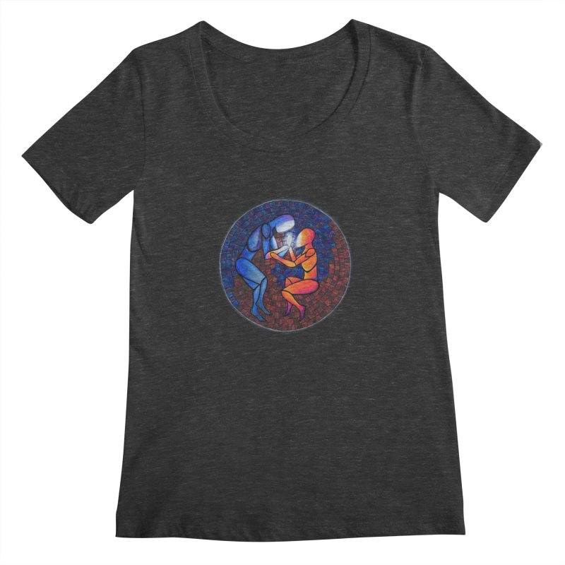 Find Your Heart(h) Women's Scoopneck by Tilted Windmill's Artist Shop