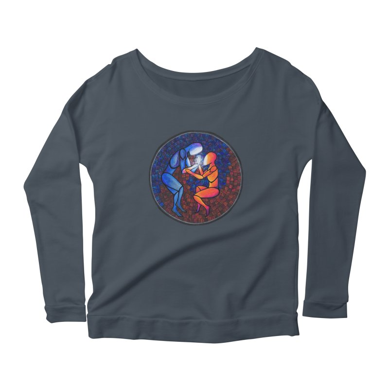 Find Your Heart(h) Women's Longsleeve Scoopneck  by Tilted Windmill's Artist Shop