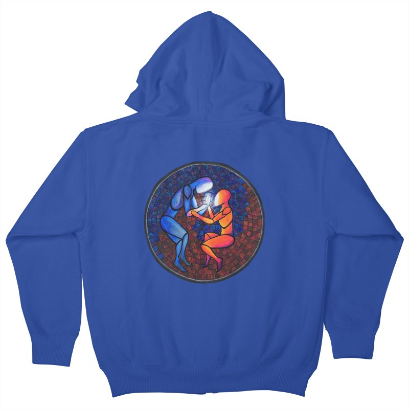 Find Your Heart(h) Kids Zip-Up Hoody by Tilted Windmill's Artist Shop