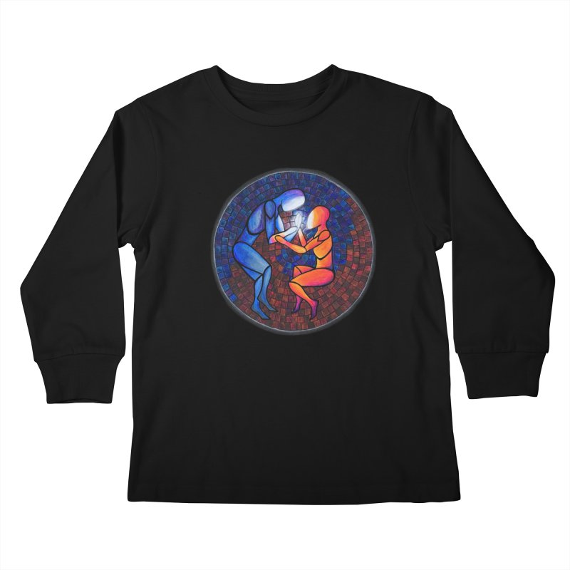Find Your Heart(h) Kids Longsleeve T-Shirt by Tilted Windmill's Artist Shop