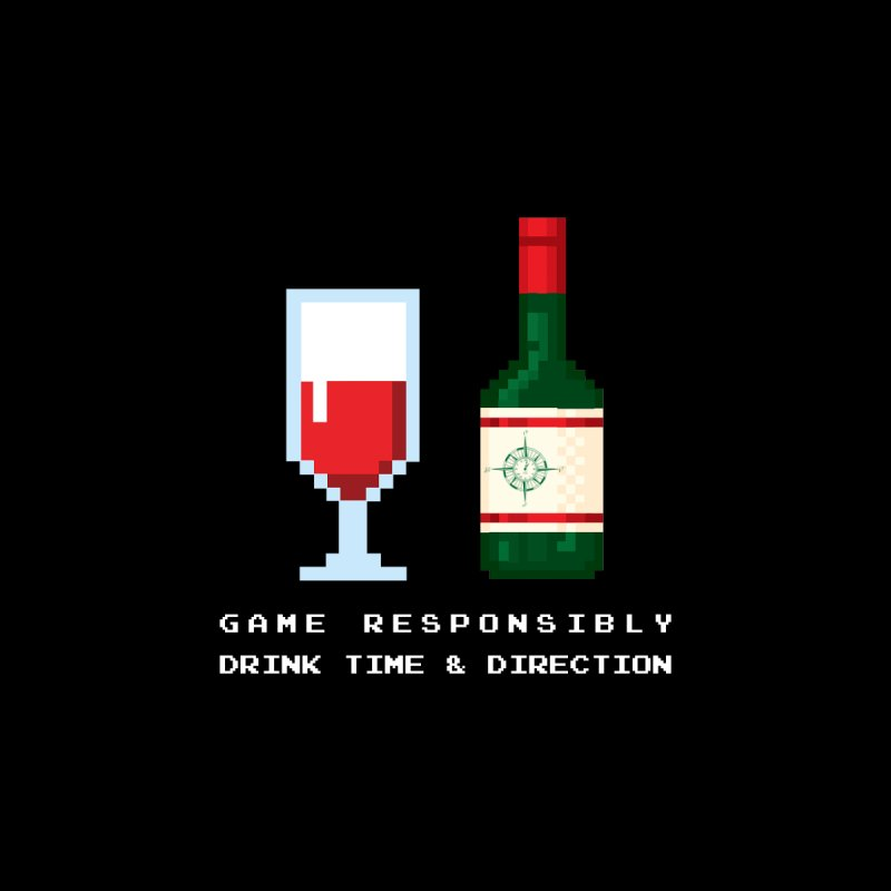 8-bit drinking by Time & Direction Wines's Artist Shop