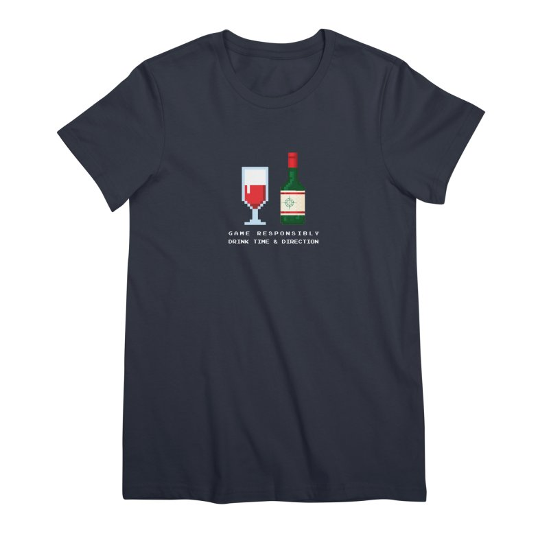 8-bit drinking Women's Premium T-Shirt by Time & Direction Wines's Artist Shop