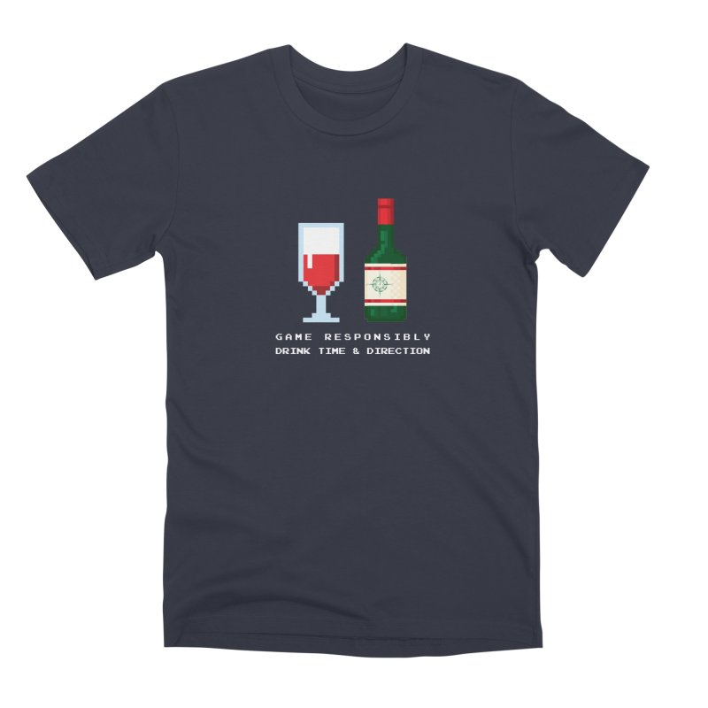 8-bit drinking Men's Premium T-Shirt by Time & Direction Wines's Artist Shop