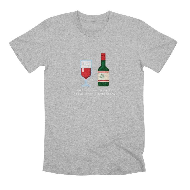 8-bit drinking Men's Premium T-Shirt by Time & Direction Wines's Artist Shop