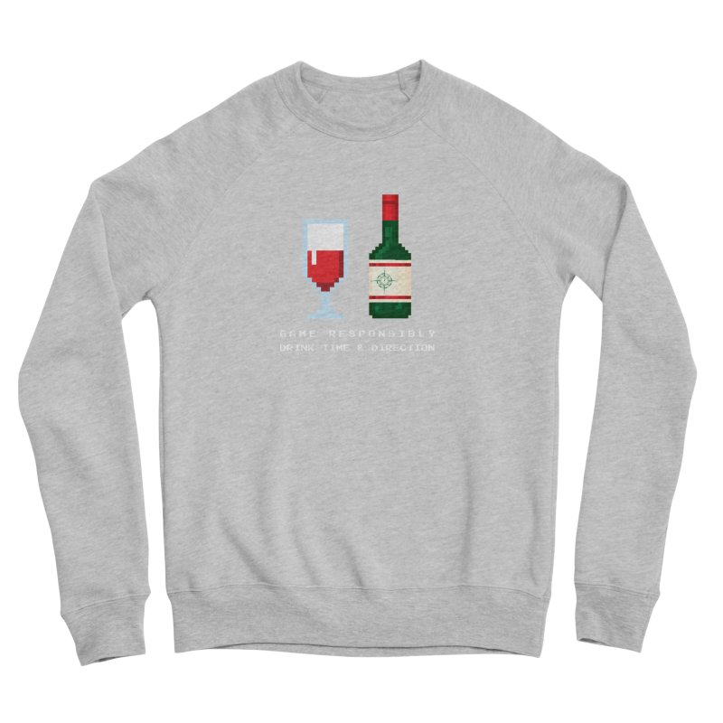 8-bit drinking Men's Sponge Fleece Sweatshirt by Time & Direction Wines's Artist Shop