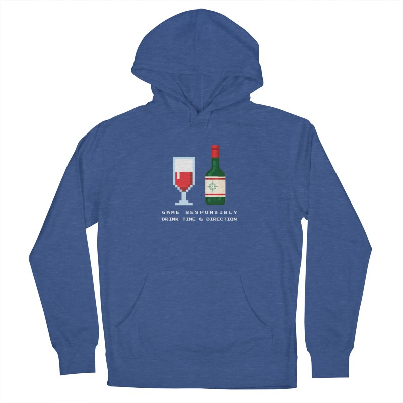 8-bit drinking Women's French Terry Pullover Hoody by Time & Direction Wines's Artist Shop