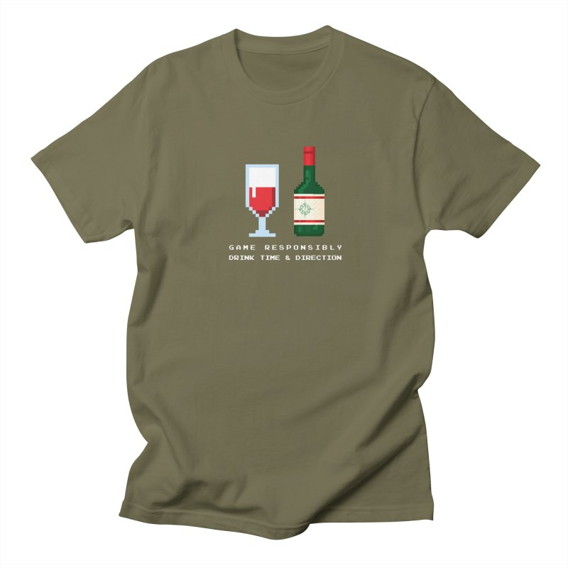 8-bit drinking Men's Regular T-Shirt by Time & Direction Wines's Artist Shop