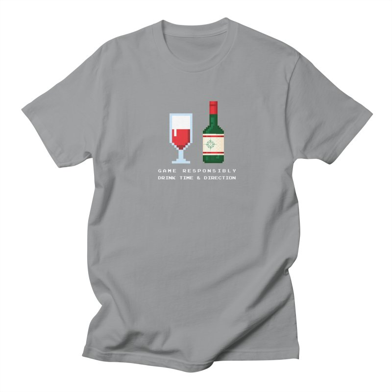 8-bit drinking Women's Regular Unisex T-Shirt by Time & Direction Wines's Artist Shop