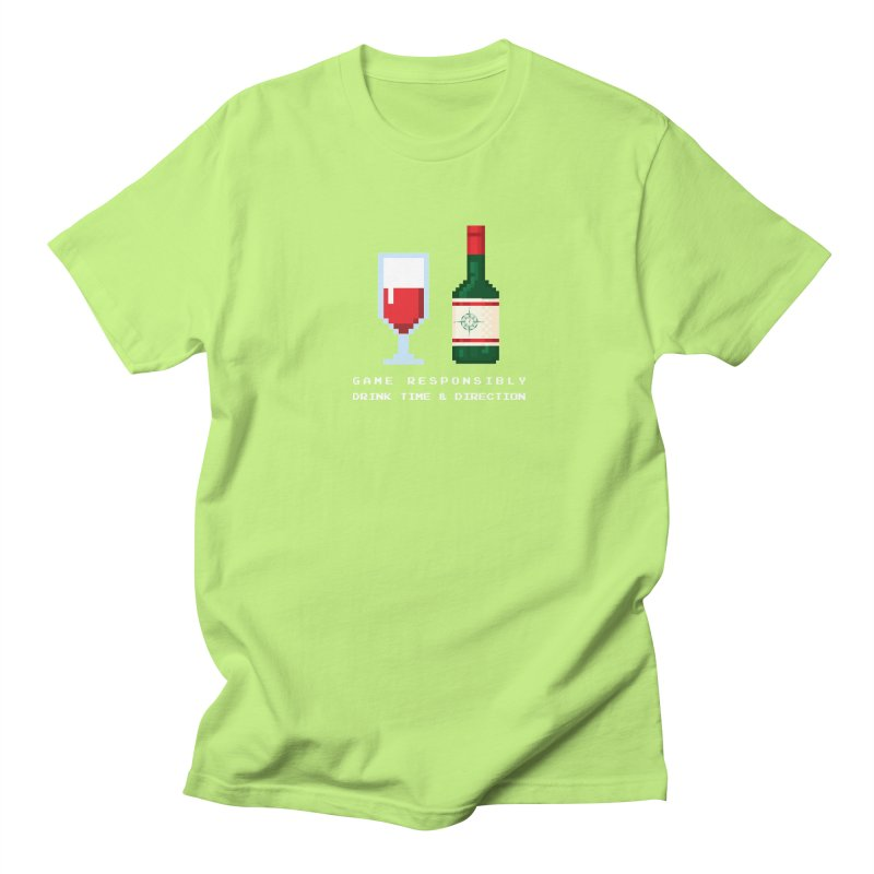 8-bit drinking Men's Regular T-Shirt by Time & Direction Wines's Artist Shop