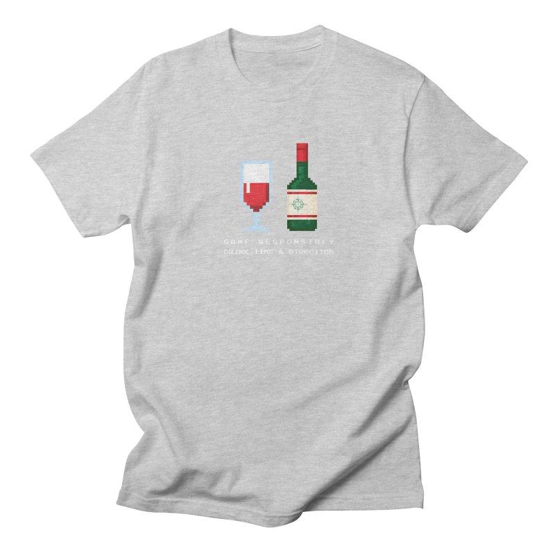 8-bit drinking Women's Regular Unisex T-Shirt by Time & Direction Wines's Artist Shop