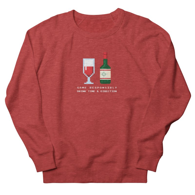 8-bit drinking Men's French Terry Sweatshirt by Time & Direction Wines's Artist Shop