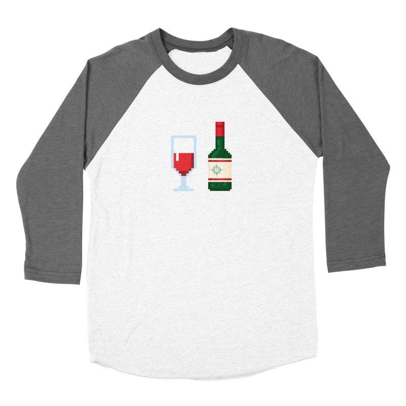 8-bit drinking Men's Baseball Triblend Longsleeve T-Shirt by Time & Direction Wines's Artist Shop