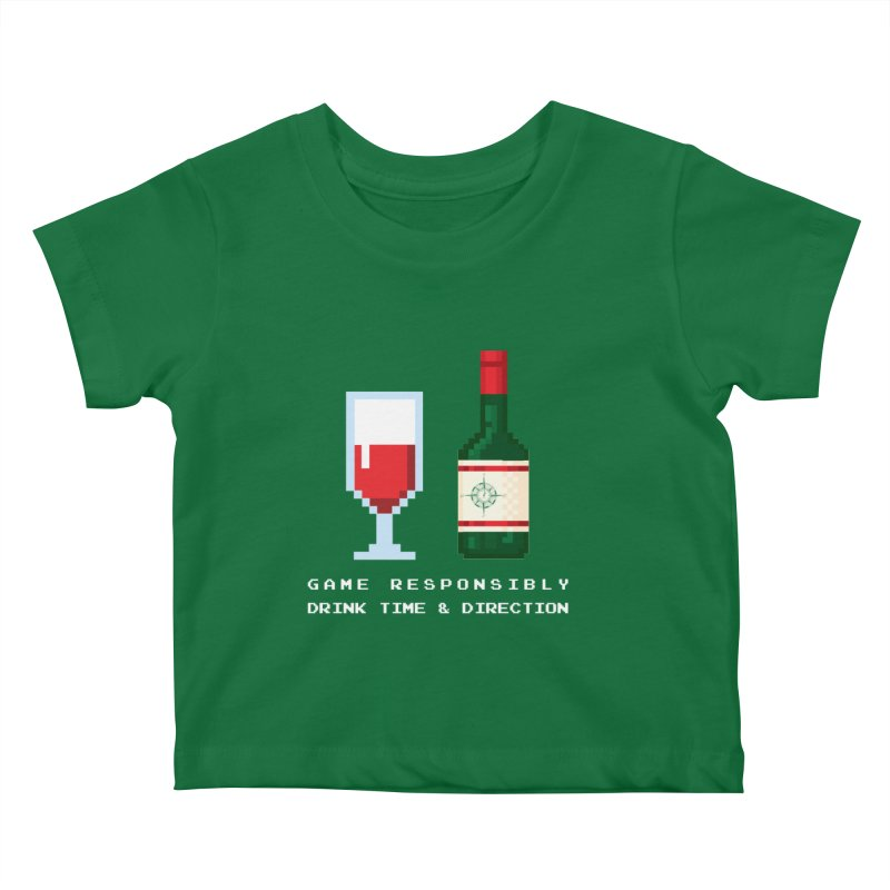 8-bit drinking Kids Baby T-Shirt by Time & Direction Wines's Artist Shop