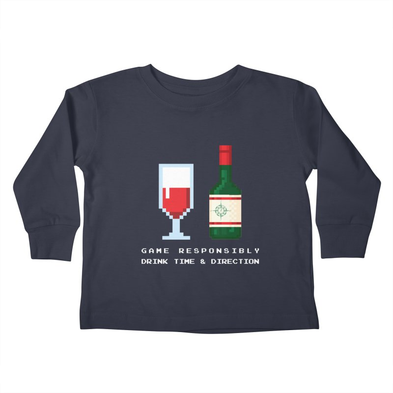 8-bit drinking Kids Toddler Longsleeve T-Shirt by Time & Direction Wines's Artist Shop