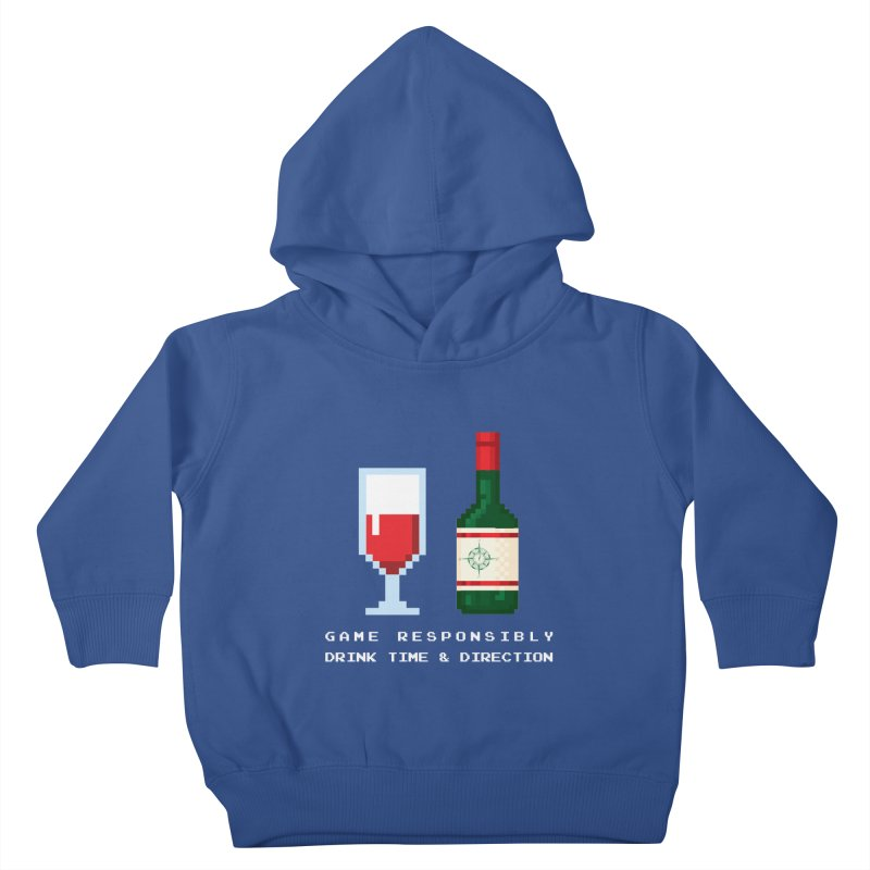 8-bit drinking Kids Toddler Pullover Hoody by Time & Direction Wines's Artist Shop