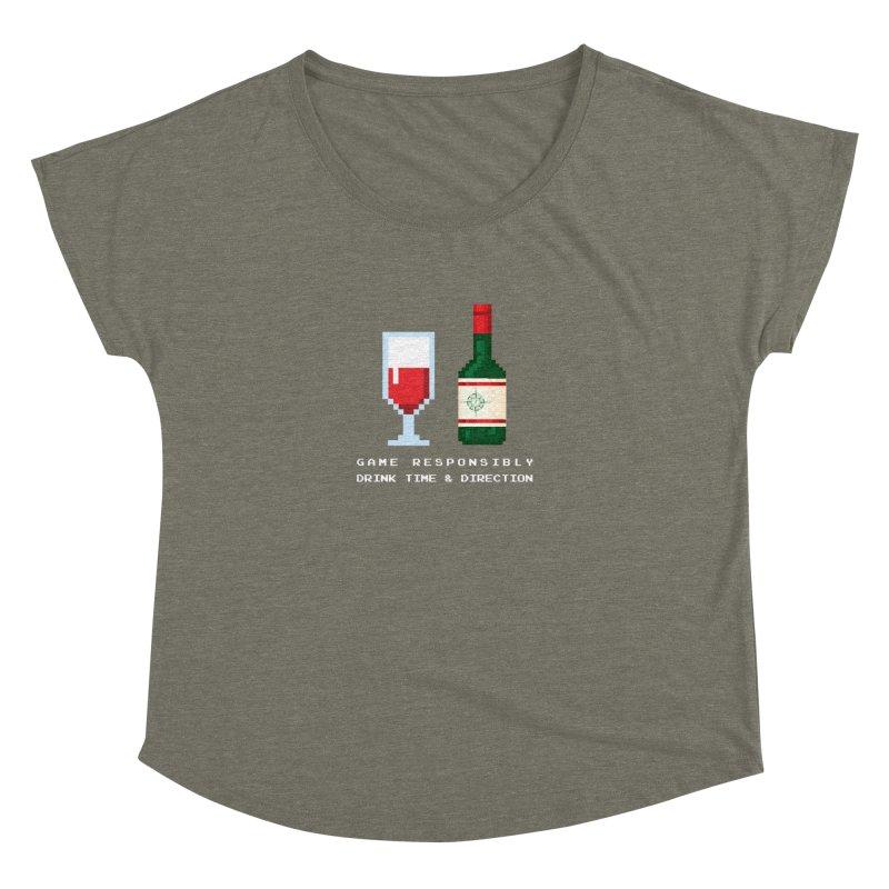 8-bit drinking Women's Dolman Scoop Neck by Time & Direction Wines's Artist Shop