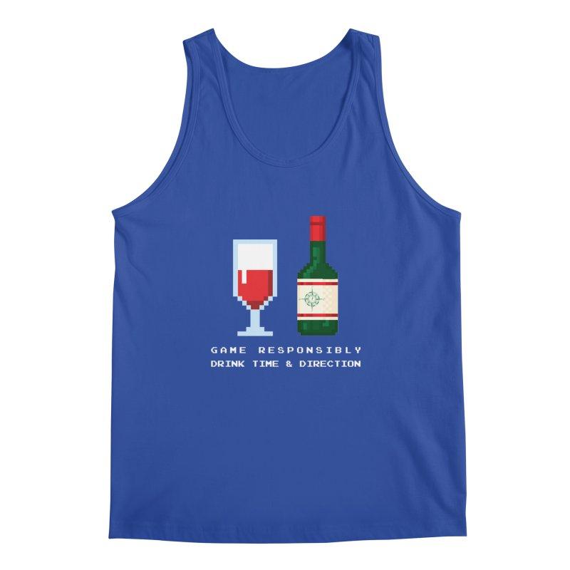 8-bit drinking Men's Regular Tank by Time & Direction Wines's Artist Shop