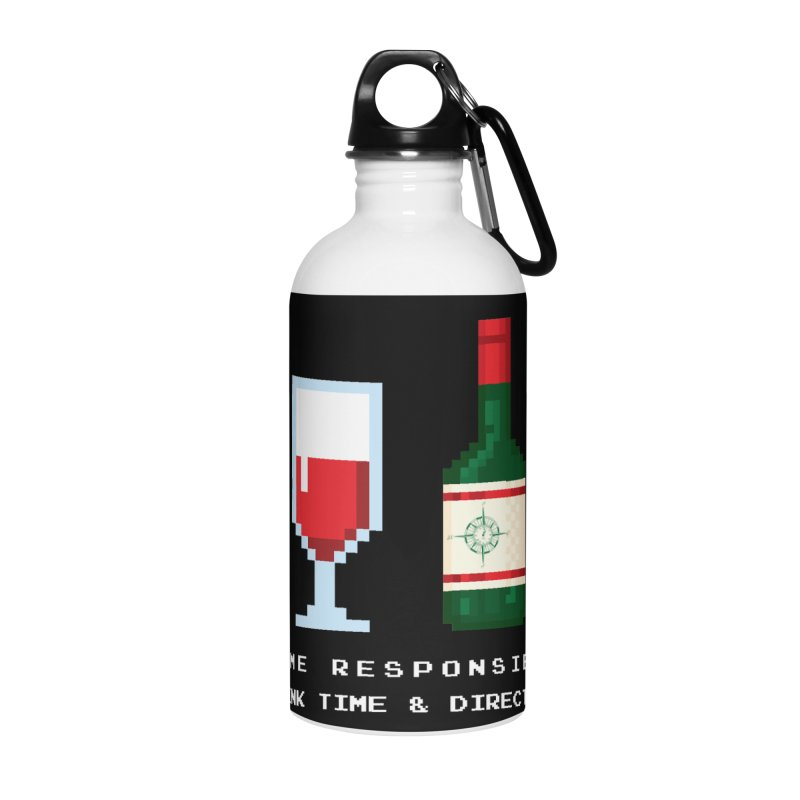 8-bit drinking Accessories Water Bottle by Time & Direction Wines's Artist Shop