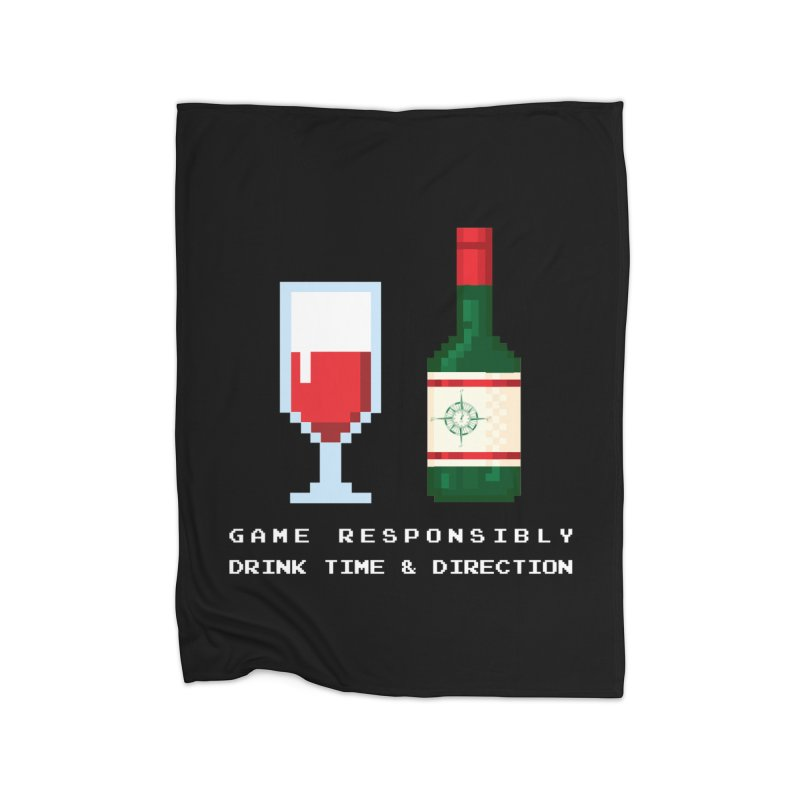 8-bit drinking Home Fleece Blanket Blanket by Time & Direction Wines's Artist Shop
