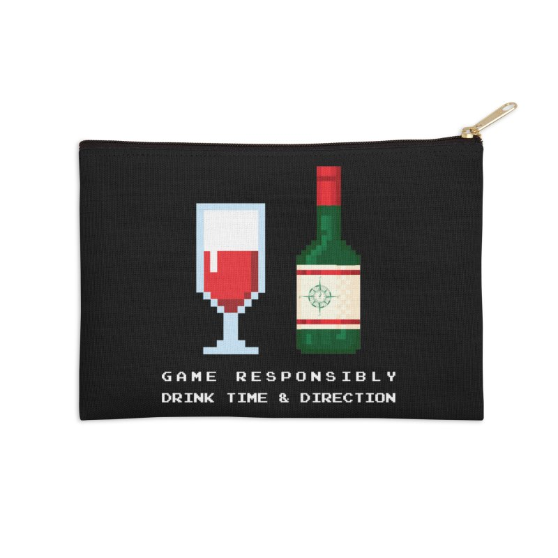 8-bit drinking Accessories Zip Pouch by Time & Direction Wines's Artist Shop