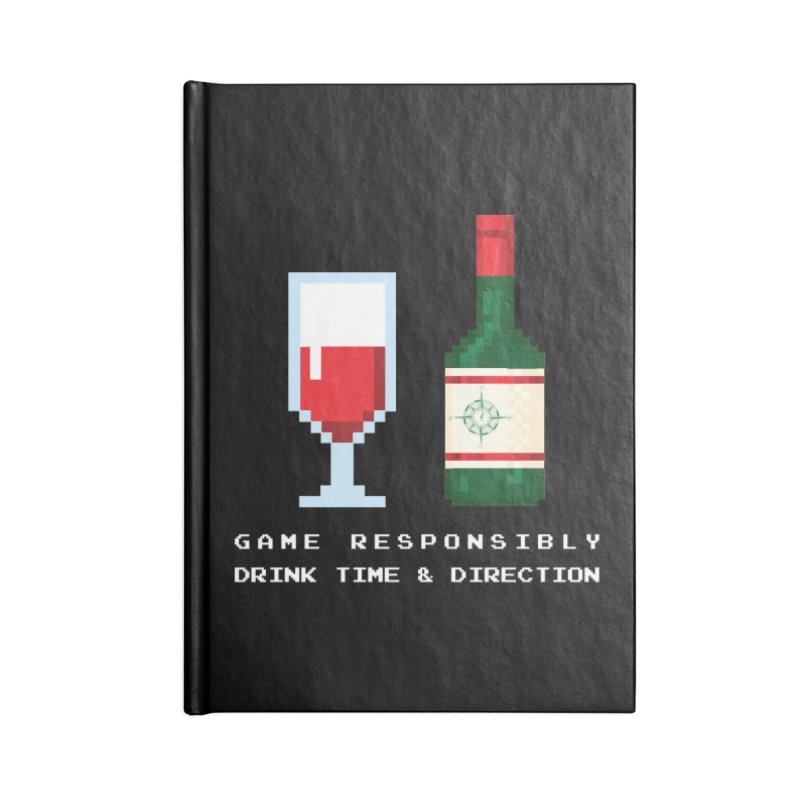 8-bit drinking Accessories Blank Journal Notebook by Time & Direction Wines's Artist Shop