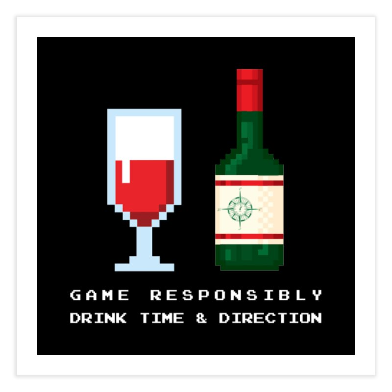 8-bit drinking Home Fine Art Print by Time & Direction Wines's Artist Shop
