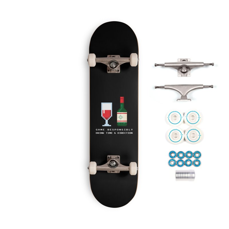 8-bit drinking Accessories Complete - Basic Skateboard by Time & Direction Wines's Artist Shop