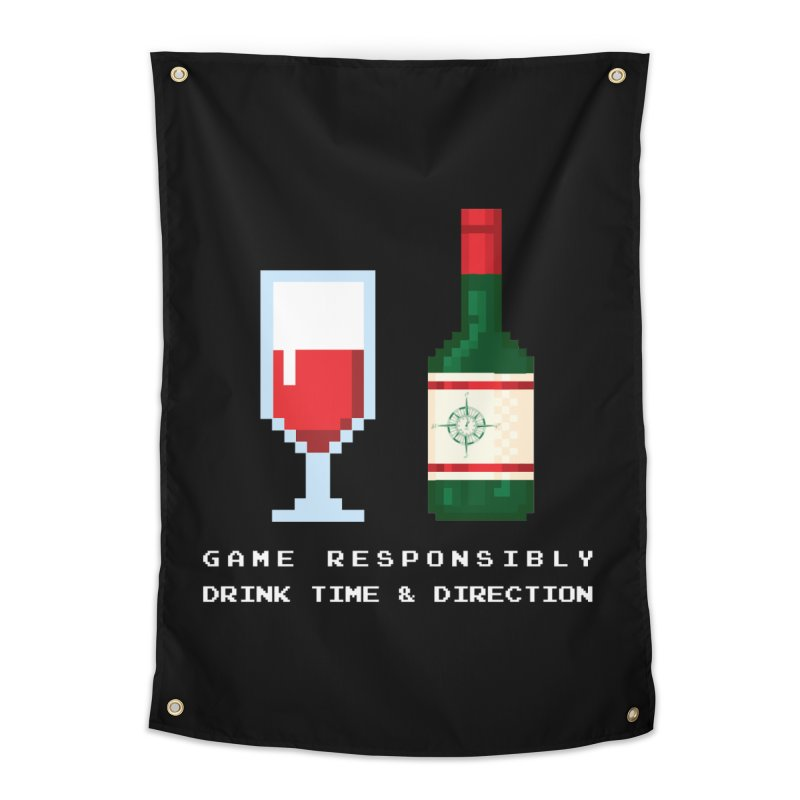 8-bit drinking Home Tapestry by Time & Direction Wines's Artist Shop
