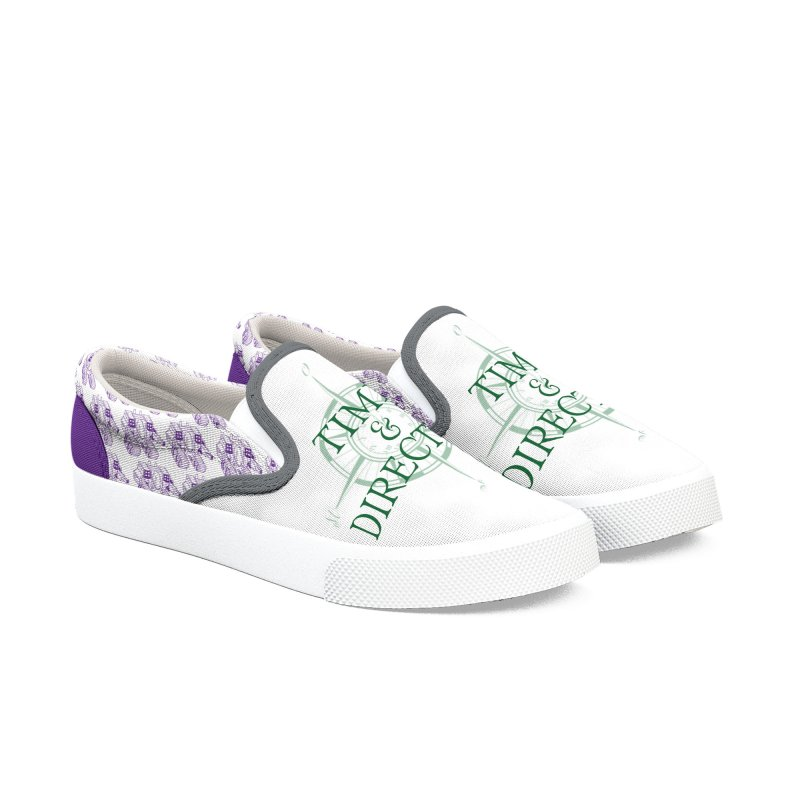 Robot Grapes Women's Slip-On Shoes by Time & Direction Wines's Artist Shop
