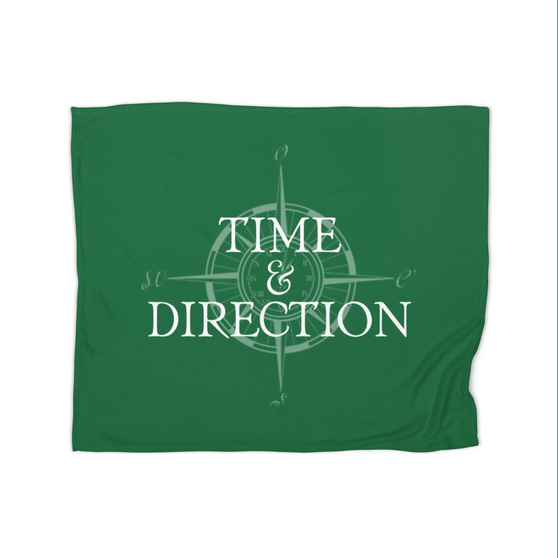 Time & Direction Compass Home Fleece Blanket Blanket by Time & Direction Wines's Artist Shop