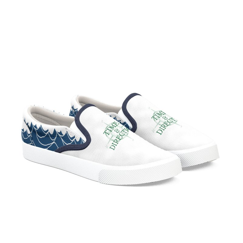 T&D Waves Men's Slip-On Shoes by Time & Direction Wines's Artist Shop