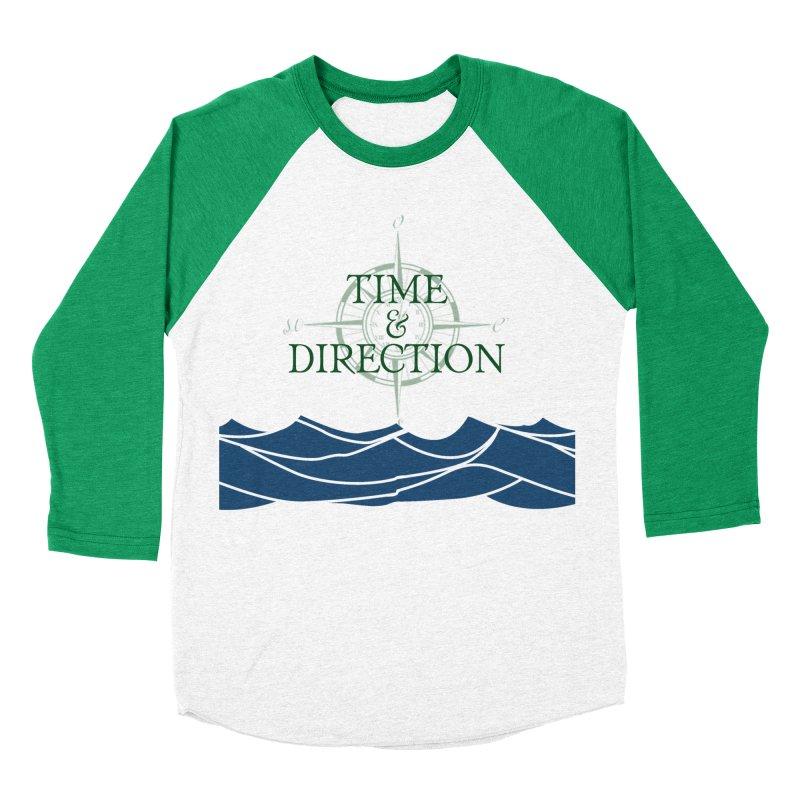 T&D Waves Men's Baseball Triblend Longsleeve T-Shirt by Time & Direction Wines's Artist Shop