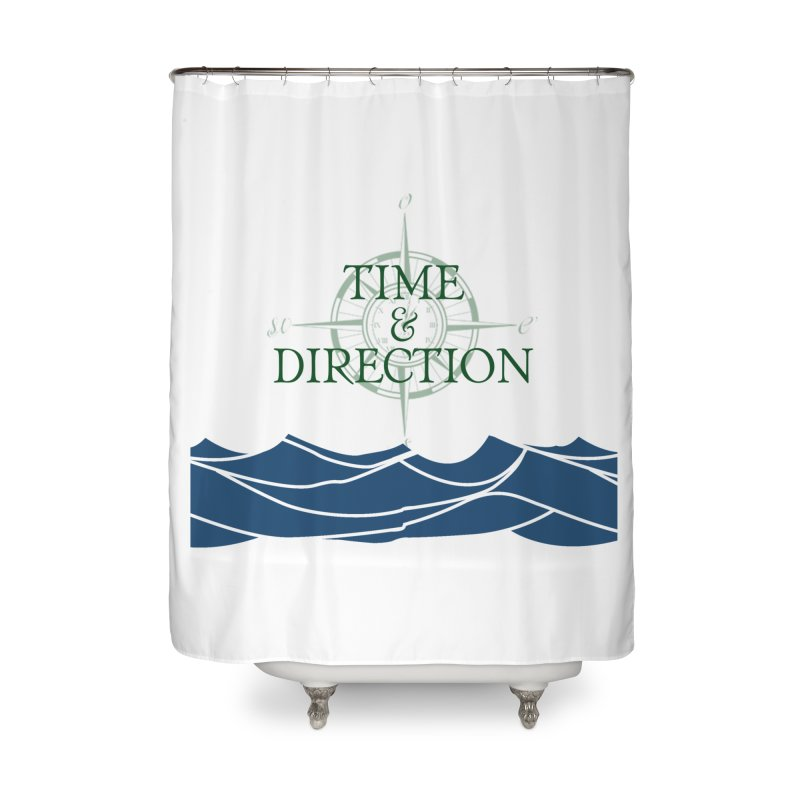 T&D Waves Home Shower Curtain by Time & Direction Wines's Artist Shop