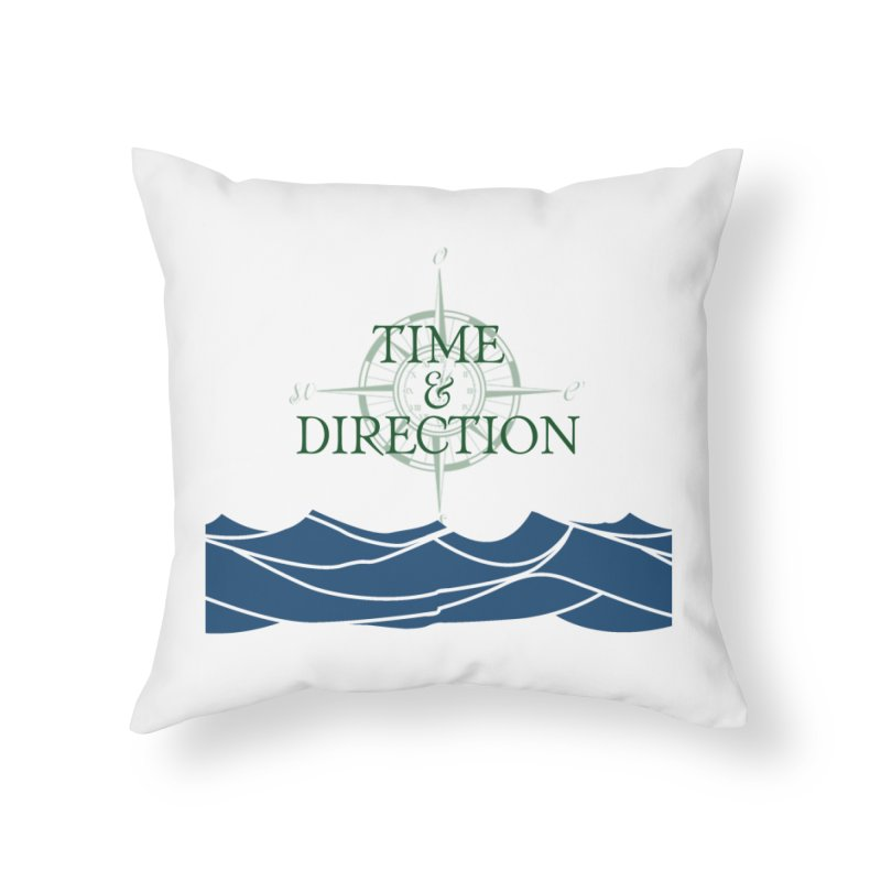 T&D Waves Home Throw Pillow by Time & Direction Wines's Artist Shop
