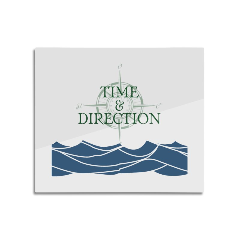T&D Waves Home Mounted Aluminum Print by Time & Direction Wines's Artist Shop
