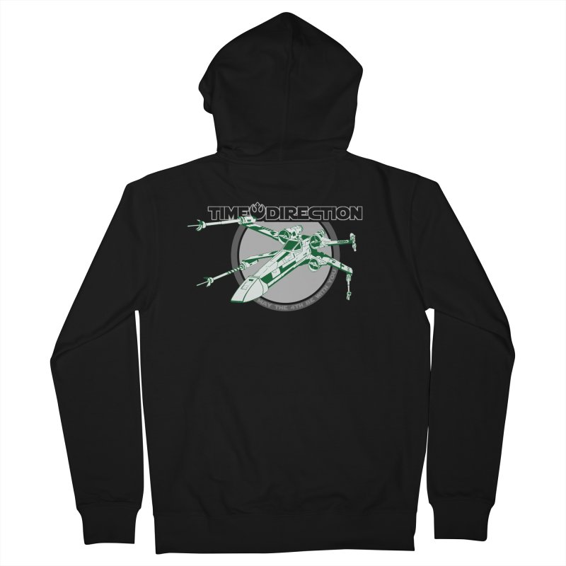 X-Wing Men's French Terry Zip-Up Hoody by Time & Direction Wines's Artist Shop