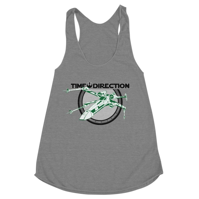 X-Wing Women's Racerback Triblend Tank by Time & Direction Wines's Artist Shop