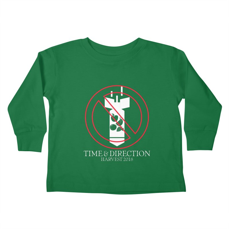 No Fruit Bombs Kids Toddler Longsleeve T-Shirt by Time & Direction Wines's Artist Shop