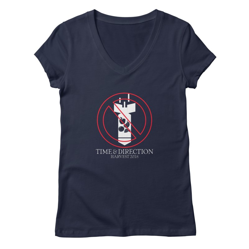 No Fruit Bombs Women's Regular V-Neck by Time & Direction Wines's Artist Shop