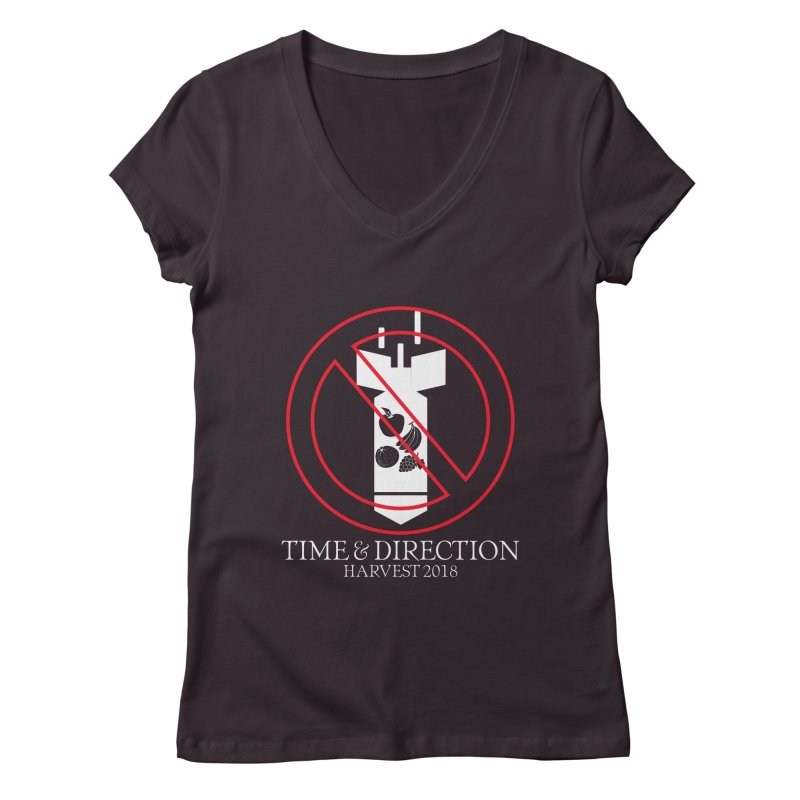 No Fruit Bombs Women's Regular V-Neck by Time & Direction Wines's Artist Shop