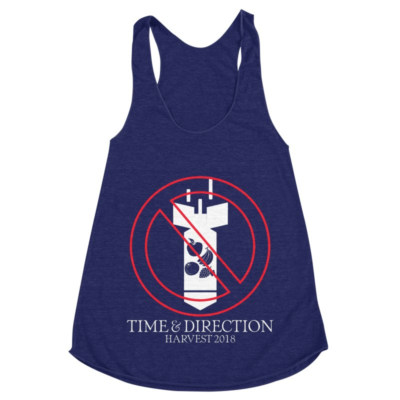 No Fruit Bombs Women's Racerback Triblend Tank by Time & Direction Wines's Artist Shop