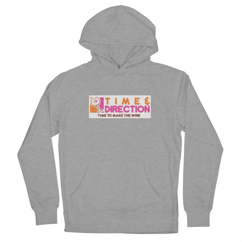 America Runs on T&D Women's French Terry Pullover Hoody by Time & Direction Wines's Artist Shop