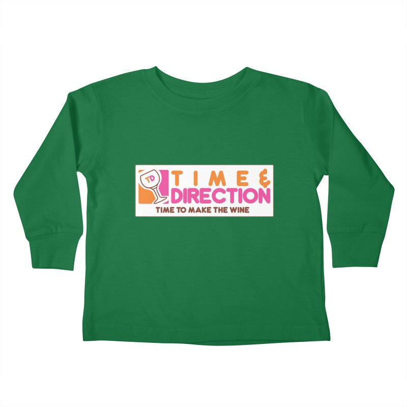 America Runs on T&D Kids Toddler Longsleeve T-Shirt by Time & Direction Wines's Artist Shop