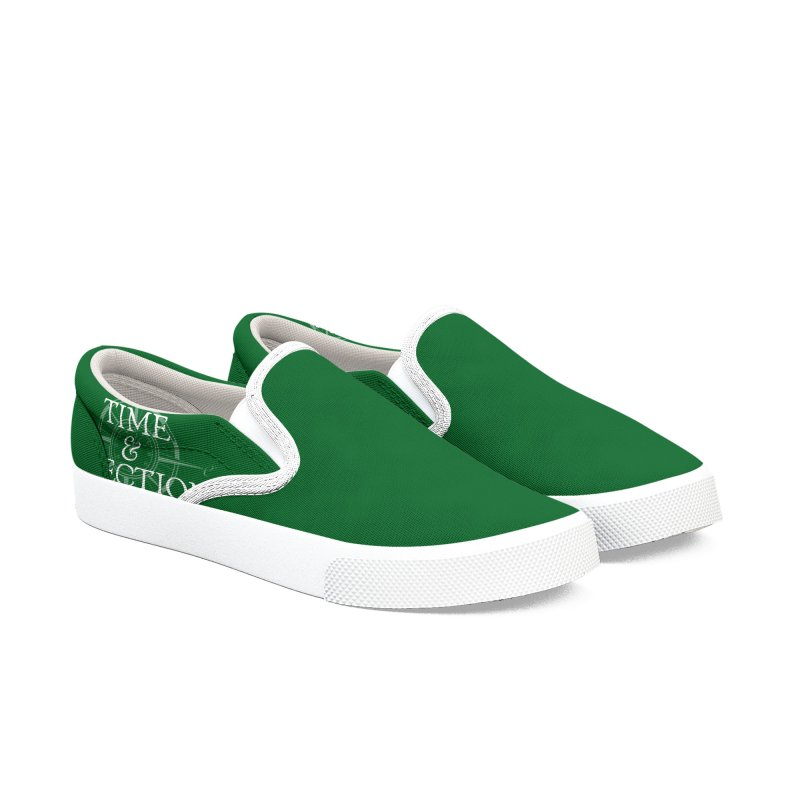 Green Shoes Women's Slip-On Shoes by Time & Direction Wines's Artist Shop