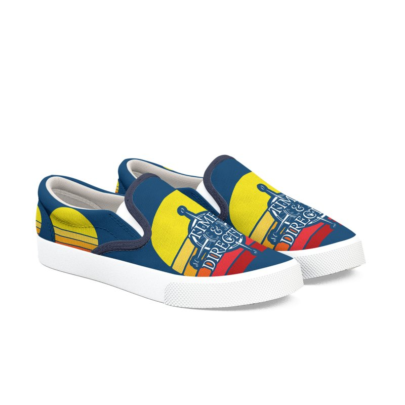 Retro Sunset Women's Slip-On Shoes by Time & Direction Wines's Artist Shop